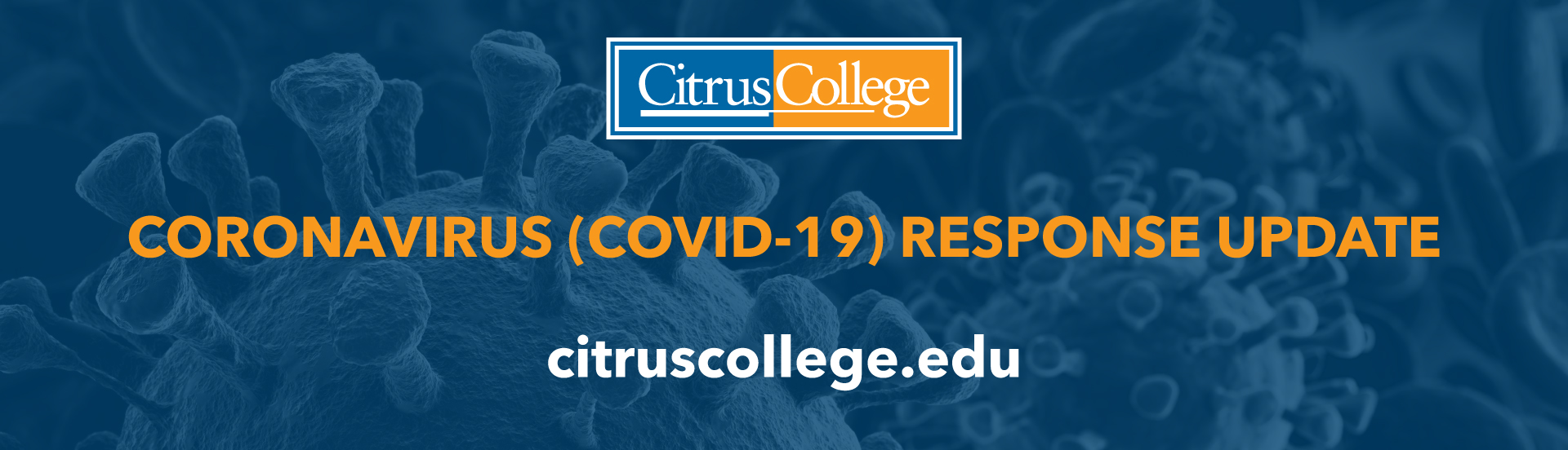 COVID 19 banner with Citrus College logo