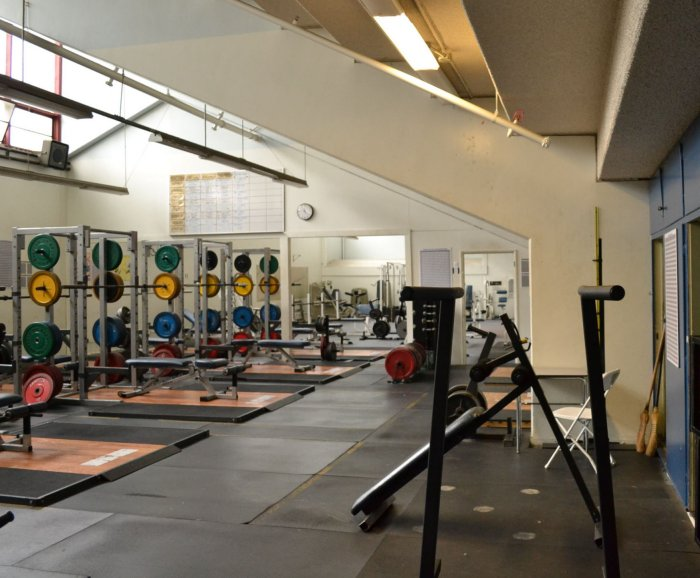Gymnasium lockers and weight rooms fitness center
