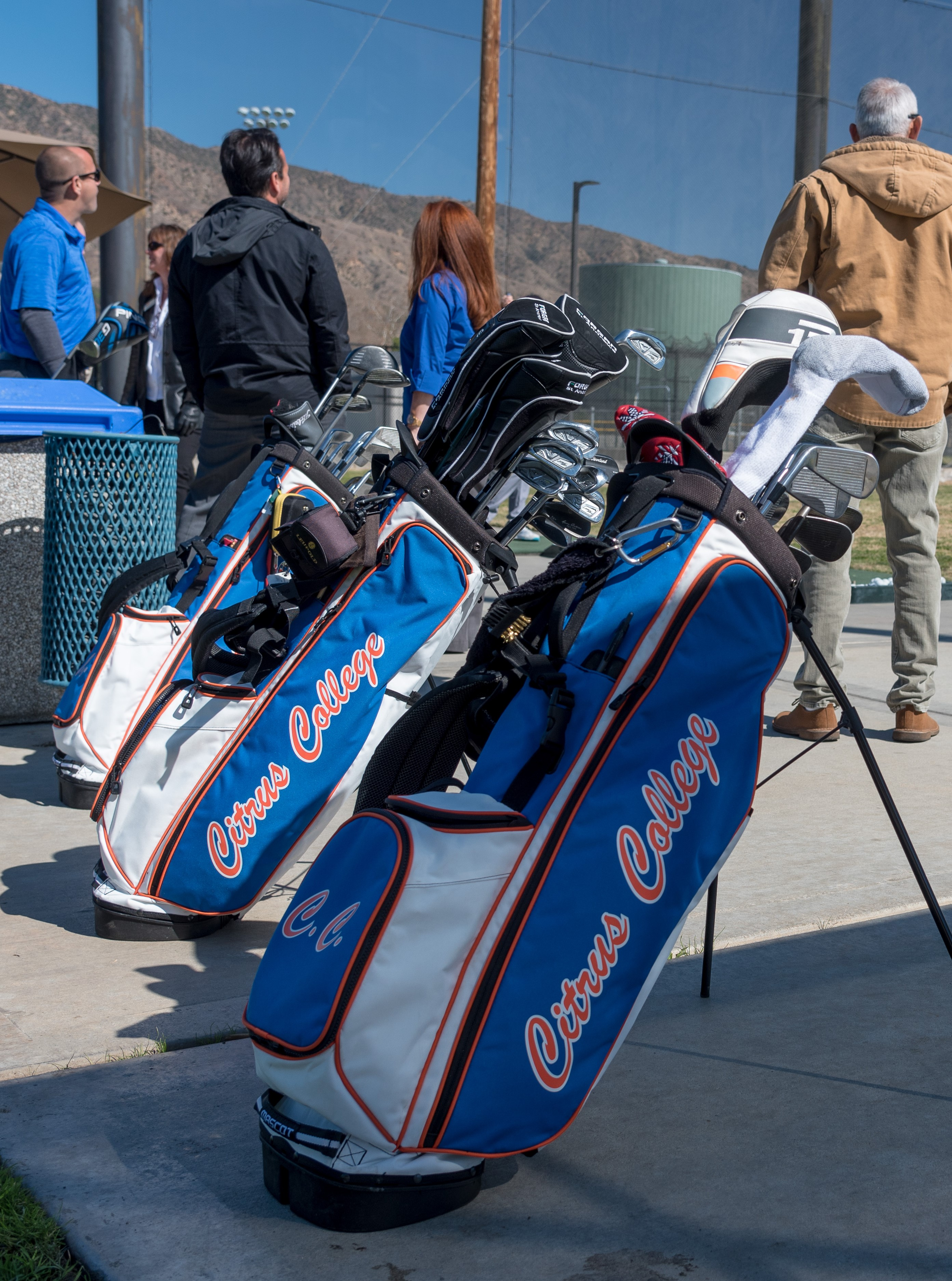 Citrus College branded golf bags