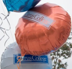 Balloons with the Citrus College logo
