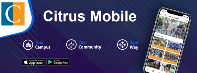 Citrus College Mobile App banner